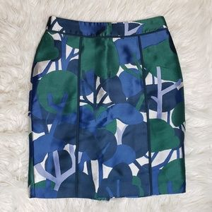 Ann Taylor Petite Abstract Tree Pencil Skirt